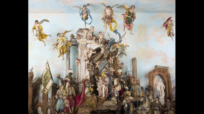 Crèche, mid-18th century. Naples. (Courtesy Art Institute of Chicago)