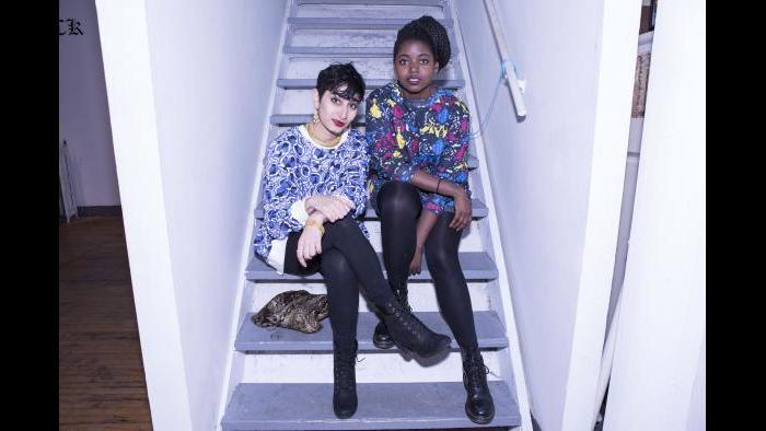 Fatimah Asghar, left, and Sam Bailey (Credit: Alexus McLane)