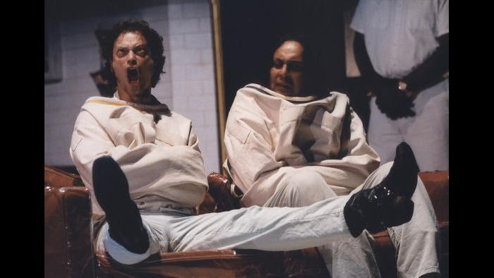 "Gary Sinise, left, in ""One Flew Over the Cuckoo's Nest."" (Courtesy Steppenwolf Theatre)"