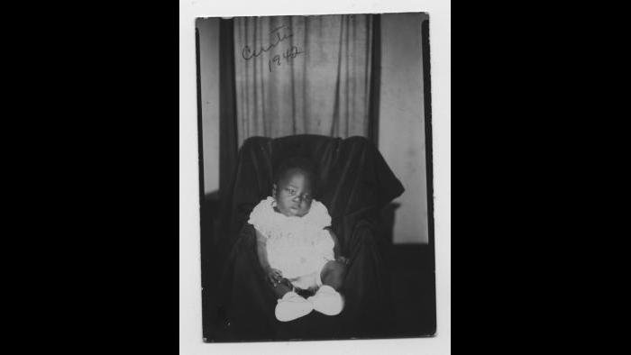 Curtis Mayfield as a newborn, Chicago 1942. (Courtesy the author's collection)