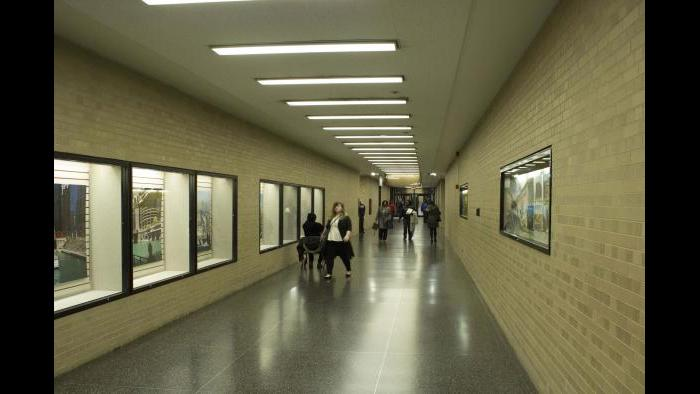 Before: Daley Center, pedway level. (Courtesy of the Environmental Law & Policy Center)