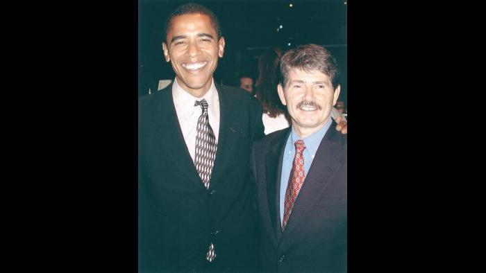 Barack Obama and David Orr (Courtesy David Orr)