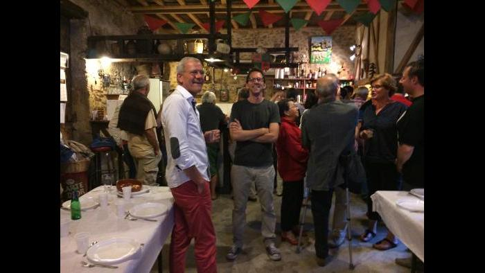 David in the bodega clubhouse of the village social club, which went by the name Les Esbouhats. (Courtesy David McAninch)