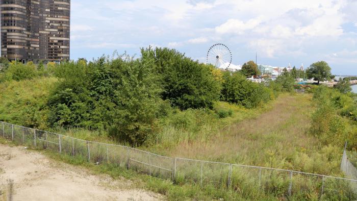 The DuSable Park site in 2016. (Evan Garcia / WTTW News)