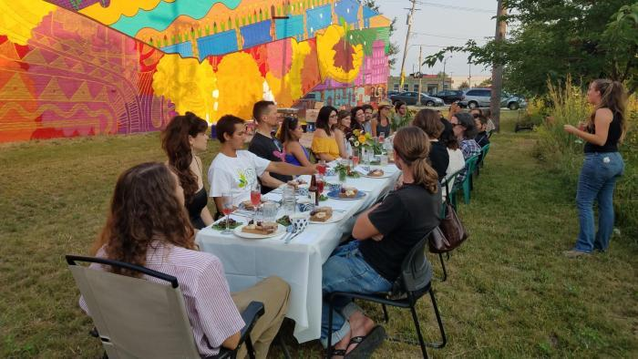 "At El Paseo the emphasis is on community. ""We're not a gardening club,"" said co-director Paula Acevedo. (Courtesy of El Paseo Community Garden)"