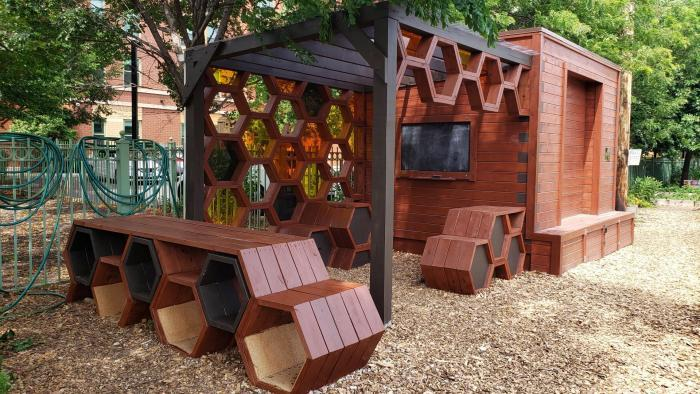"""The Hive"" is El Paseo's outdoor learning classroom. (Courtesy of El Paseo Community Garden)"