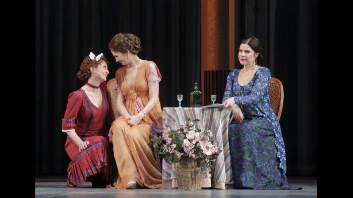 """Elena Tsallagova, Marianne Crebassa and Ana María Martínez in """"Cosi fan tutte."""" (Credit: Cory Weaver)"""