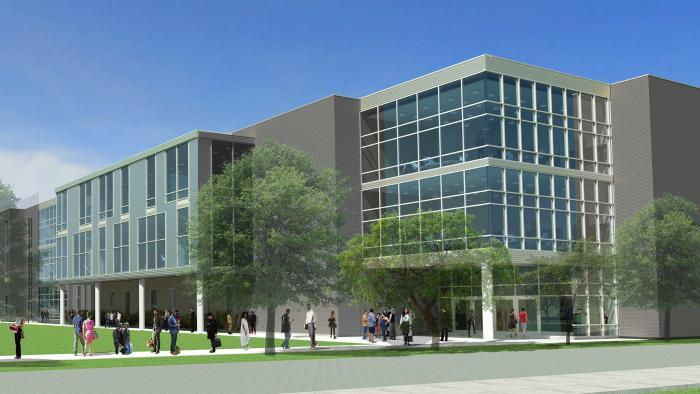 An early rendering of the new Englewood high school released last summer (Chicago Public Schools)