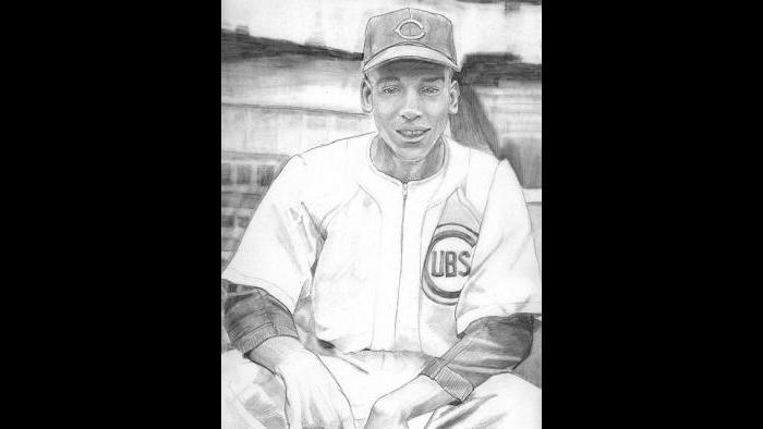"""Ernie Banks: """"He's our mascot. The Cubs don't have a mascot, but damn if Ernie isn't our mascot! He came from the Negro Leagues. Buck O'Neil discovered him."""""""