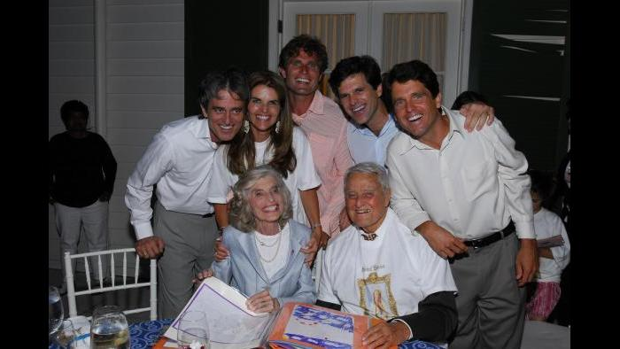 Eunice Kennedy Shriver celebrates her birthday with family. (Courtesy Special Olympics)