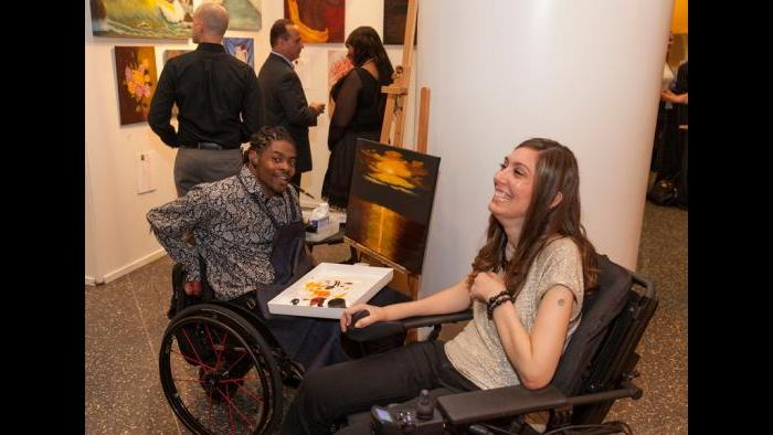 Mouth painters Antonio Davis and Mariam Paré will be featured at this year's Art in Motion fundraiser. (Jeffrey Ross Photography)