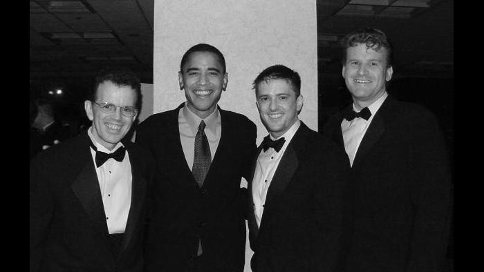 Barack Obama at an AIDS Foundation of Chicago gala, 2003. (Courtesy of Israel Wright)