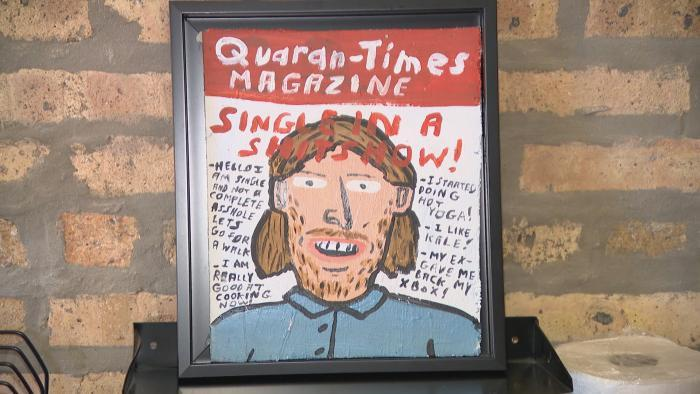 """Artwork by Dont Fret featured in the show """"Office Space for Rent."""" (WTTW News)"""