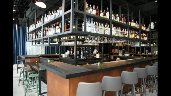 Steppenwolf's front bar. (Joshua Aaron Weinstein / Steppenwolf Theatre)