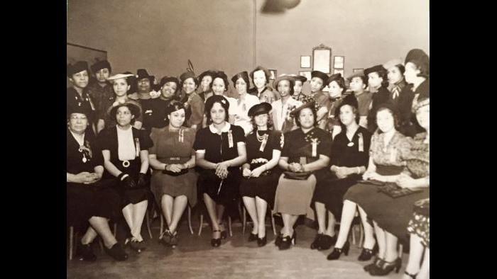 The original members of the Chicago Women's Golf Club, 1938.