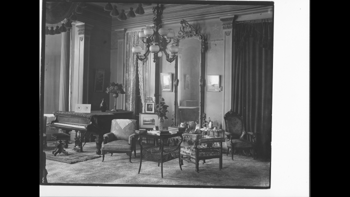 Executive Mansion, Altgeld administration, 1893-1897 (Courtesy of Abraham Lincoln Presidential Library and Museum)