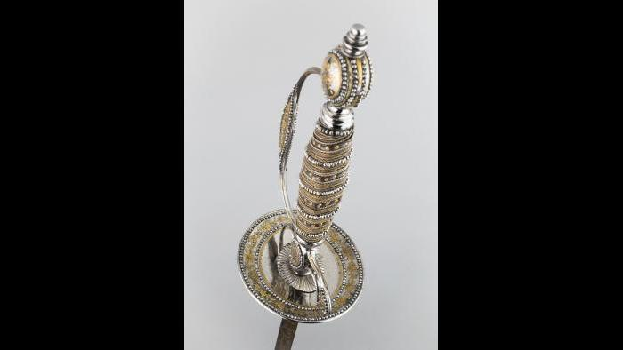 """Cutler: Thomas Prosser. """"Smallsword,"""" about 1785. The Art Institute of Chicago, Pauline Seipp Armstrong, through prior acquisition of the George F. Harding Collection."""