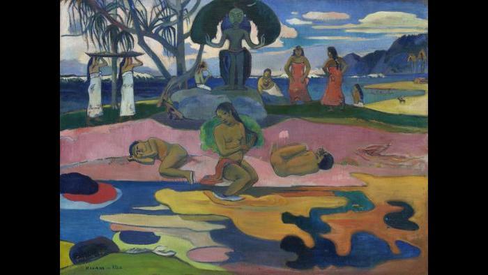 Paul Gauguin. Mahana no atua (Day of the God), 1894. The Art Institute of Chicago, Helen Birch Bartlett Memorial Collection.