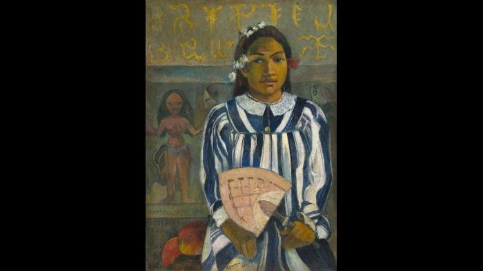 Paul Gauguin. Merahi metua no Tehamana (Tehamana Has Many Parents or The Ancestors of Tehamana), 1893. The Art Institute of Chicago, gift of Mr. and Mrs. Charles Deering McCormick.