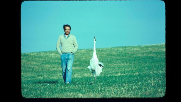 George Archibald and Tex (Photo/International Crane Foundation)