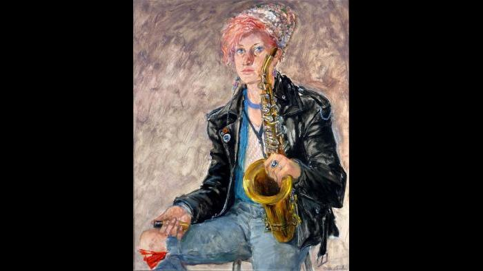"George C. Clark, ""Punk Band Sax Player"" (Courtesy of George C. Clark)"
