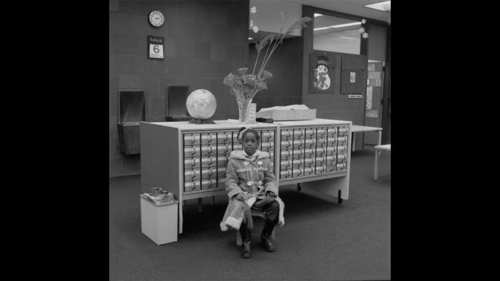 Girl in Library, Washington Heights 1978/79 (David Gremp)