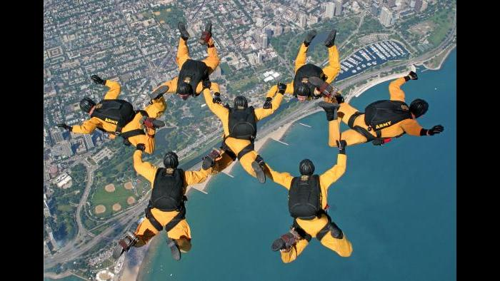 The Golden Knights parachute team. (Courtesy City of Chicago)