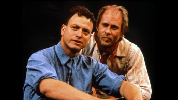 "Gary Sinise, left, in Steppenwolf's production of ""The Grapes of Wrath."" (Courtesy Steppenwolf Theatre)"