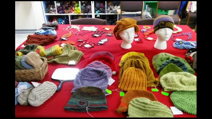 Knitting and crocheting work by CEW