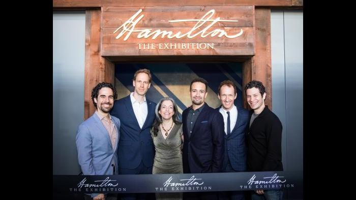 "The creative team behind ""Hamilton: The Exhibition."" (Courtesy Hamilton: The Exhibition)"