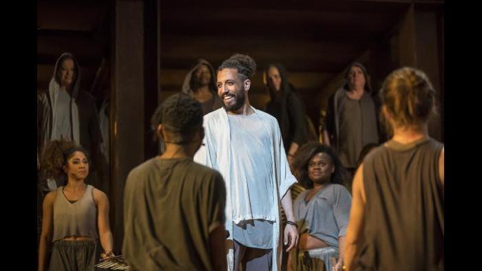 """Heath Saunders, center, in """"Jesus Christ Superstar."""" (Photo credit: Todd Rosenberg)"""