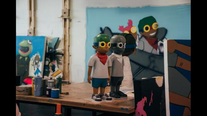 Hebru Brantley's studio. (Photo: Max Schreier)