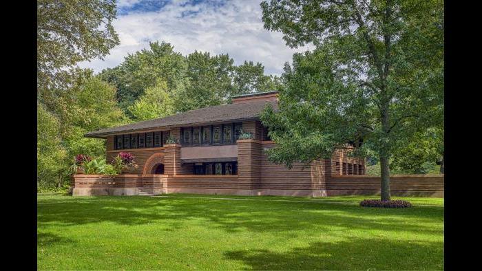 The Arthur Heurtley House in Oak Park, Illinois.