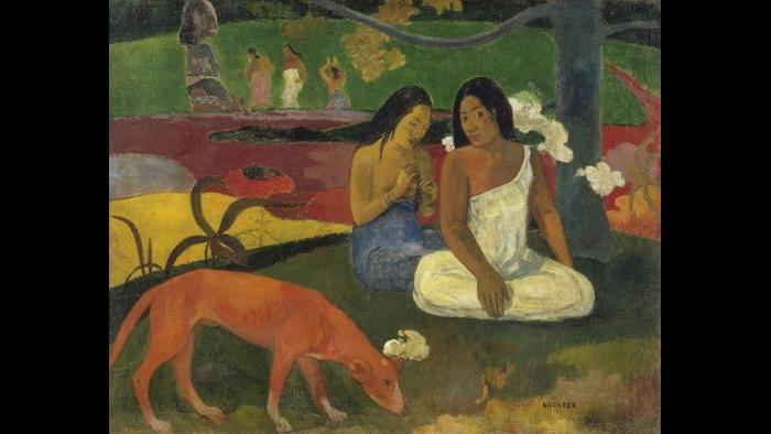 Paul Gauguin. Arearea (Joyousness), 1892. Musée d'Orsay, Paris, bequest of M. and Mme Lung, 1961.