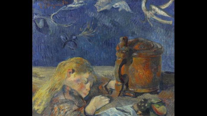 Paul Gauguin. Clovis Sleeping, 1884. Private collection.