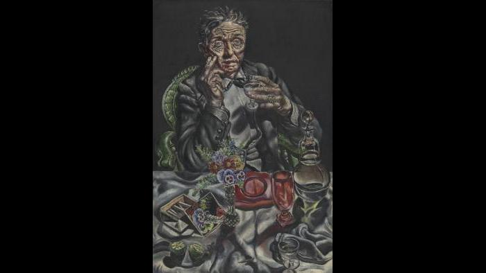 """Ivan Albright. """"Self-Portrait,"""" 1935. Mary and Earle Ludgin Collection. (© The Art Institute of Chicago)"""