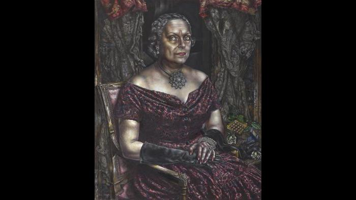 """Ivan Albright. """"Portrait of Mary Block,"""" 1955-'57. Gift of Mary and Leigh Block. (© The Art Institute of Chicago)"""