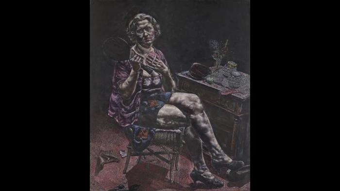 """Ivan Albright. """"Into the World There Came a Soul Called Ida,"""" 1929–30. Gift of Ivan Albright. (© The Art Institute of Chicago)"""