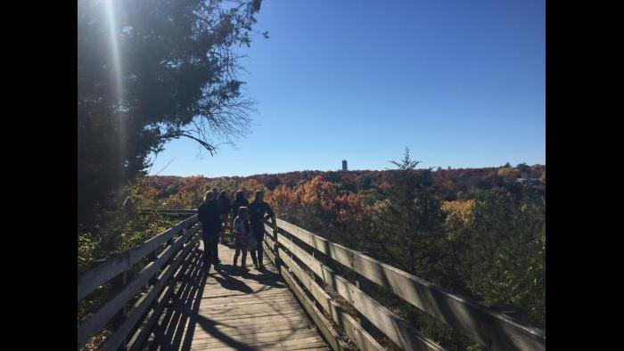 While hiking at Starved Rock in Utica, IL (Chloe Riley)