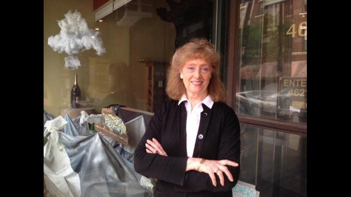 Fine Wine Brokers co-owner Louise Rohr (Rebecca Palmore / Chicago Tonight)