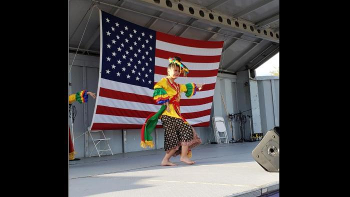 Chasity Kasir performs an Indonesian dance at the annual Skokie Festival. (Photo courtesy Chasity Kasir)