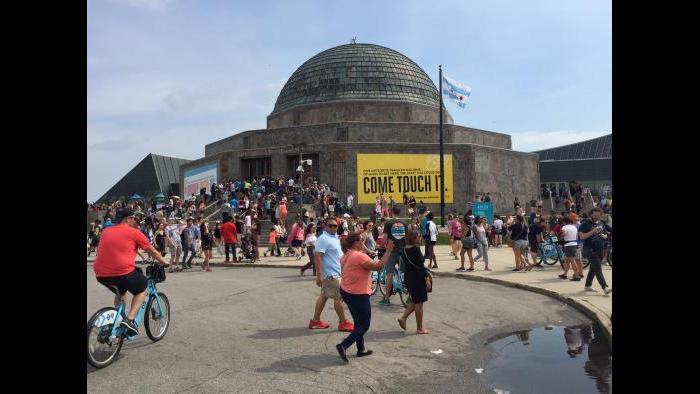 Adler Planetarium (Eddie Arruza / Chicago Tonight)