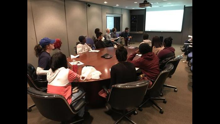Journalism students from Senn High School visit WTTW in October 2018. (Courtesy of Michael Cullinane)