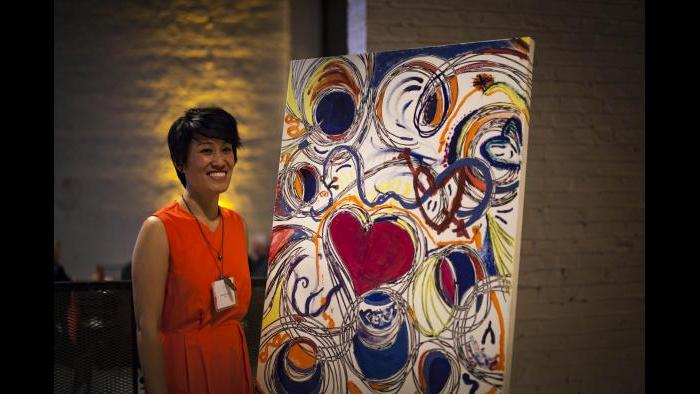 Brushes with Cancer artist Lucie Ann Chen at last year's event. (Ben Kurstin)