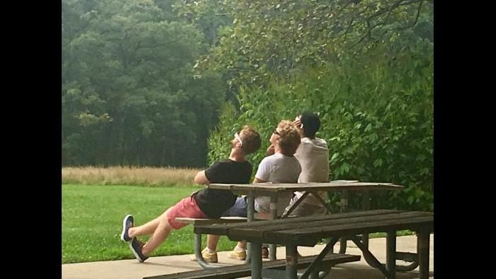 Took an ecliptic bike ride today, and enjoyed the notable enthusiasm of many. (Submitted by: Debra Arment)