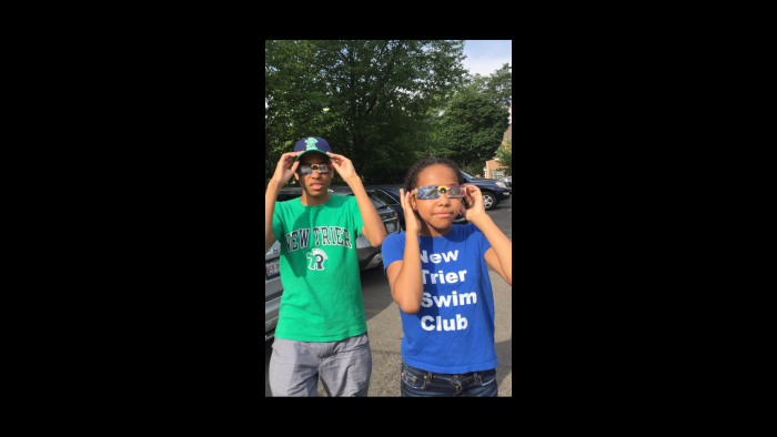 We picked up our glasses from the Winnetka Public Library at 9:00 am (Submitted by: Fraline Allgaier)