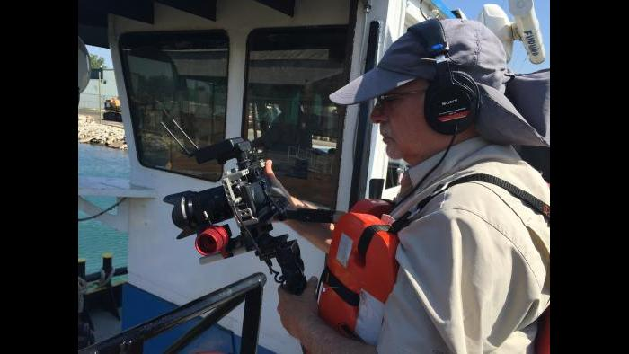 WTTW cameraman Tom Siegel.