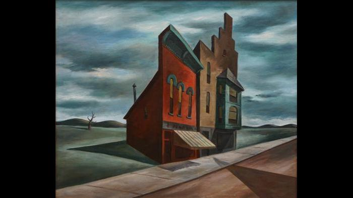 "Harold Noecker. ""Angular Landscape,"" c. 1944. (Collection of Bernard Friedman, Chicago)"