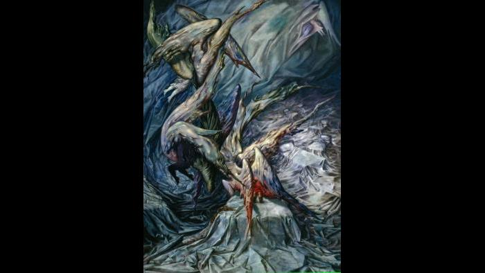 """Dorothea Tanning. """"Guardian Angels,"""" 1946. (The New Orleans Museum of Art, Kate P. Jourdan Memorial Fund, 49.15. © 2018 Artists Rights Society (ARS), New York / ADAGP, Paris)"""