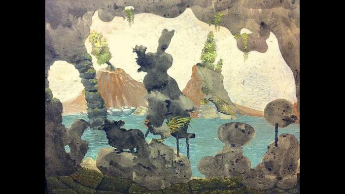 "Julia Thecla. ""Cave Entrance,"" 1955. (Collection of Bernard Friedman, Chicago)"